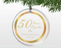 50th anniversary ornaments 50th wedding anniversary ornament custom wedding invitations