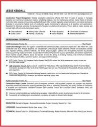 Construction Manager Resume Examples by Resume Example Resume Example Resume Pinterest Resume