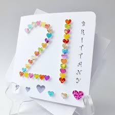 handmade 3d u002721 u0027 card personalised 21st birthday card