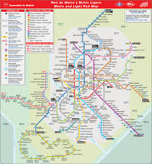 Subway Map Los Angeles by Madrid Subway Map Travel Map Vacations Travelsfinders Com
