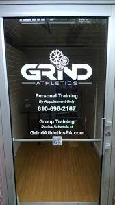 west chester pa sign project for local gym custom glass door west chester pa sign project for local gym custom glass door graphics