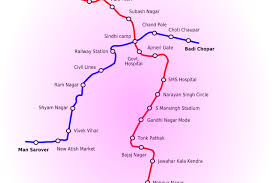 Metro Line Map by A Map Showing The Line Routes Of The Jaipur Metro Rail Project