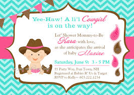 cowgirl baby shower invitations theruntime com