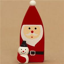cute santa claus with snowman christmas card holder other cute
