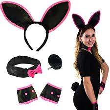 bunny costume bunny costume set bunny ears collar cuffs