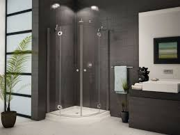 the awesome corner shower stalls for small bathrooms