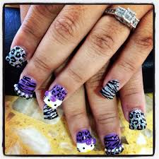 bling duck feet nail u0027s hello kitty and zebra and leopard nail