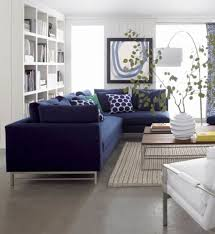 Navy Sectional Sofa Living Room With White Coffee Table And Grey Sectional Sofa Ways