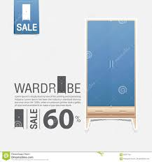 wardrobe in flat design for home interior minimal icon for