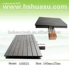 Wood Patio Flooring by Easy To Install Wpc Outdoor Wooden Patio Flooring Deck View Wpc