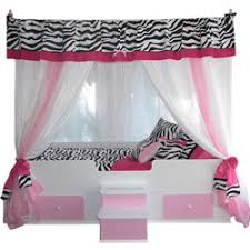 Princess Canopy Bed Princess Canopy Bed Pink Girls Bed Zebra Print Ababy Com
