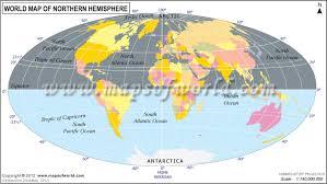 world hemisphere maps southern eastern northern and western