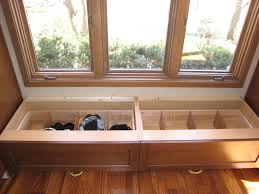 Wooden Banquette Seating Interior Wooden Banquette Bench With Storage Also Sliding Glass