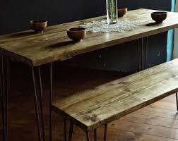 Kitchen Wood Table by Kitchen U0026 Dining Tables Etsy Uk