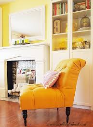 Yellow Accent Chair My French Yellow Tufted Chair A Cultivated Nest