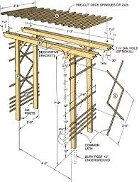 How To Build A Trellis How To Build A Simple Entry Arbor