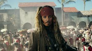 johnny depp surprises guests as captain jack sparrow in pirates of