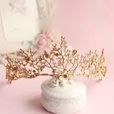 2017 baroque crown gold leaf tairas dragonfly bridal hair