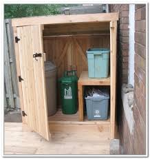diy outdoor storage cabinet diy outdoor trash can storage outside ideas pinterest storage