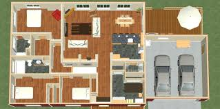 653974 bungalow 3 bedroom 2 bath narrow house plan plans