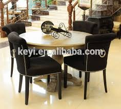 Ring Back Dining Chair Modern Button Design Fabric Dining Living Hotel Ring Back Chair