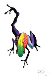 colorful frog design by comatorium22