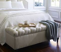 Upholstered Benches Bedroom Bedroom With Grey Upholstered Bench With Tufted Seat