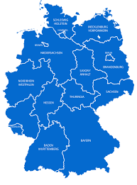 Blank State Maps by Map Germany