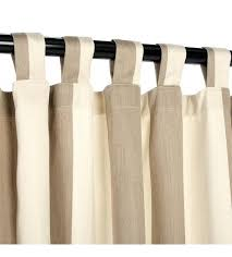 Curtains With Tabs Outdoor Curtain With Tabs Regency Sand Stripe