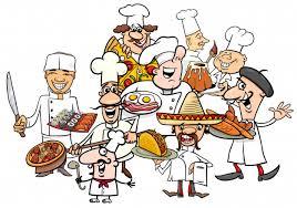 cuisine dessin animé dessin animé de groupe de cuisiniers cuisine internationale