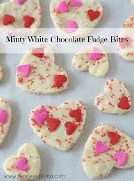 How To Make White Chocolate 3 Ingredient Minty White Chocolate Fudge Bites Fearless Dining