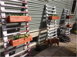 backyards impressive diy hanging wood planter boxes on wall with