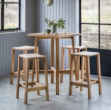 Oak Bar Table Buy Hudson Living Kielder Solid Oak Bar Table With 4 Stools