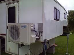 ductless mini split hidden 2013 carmate 100 solar heated and cooled over the top cargo