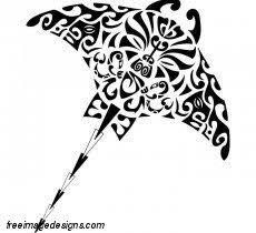 islander tribal stingray image design free image