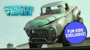monster trucks trucks for children watch creech on the roof in exclusive monster trucks movie clip