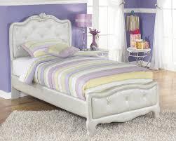 ashley zarollina b182 twin size uph bedroom set 6pcs in silver