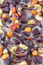 balsamic oven roasted root vegetables the rising spoon