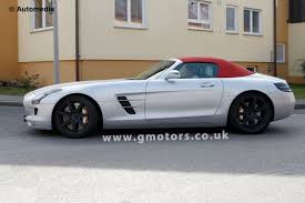mercedes sls amg convertible mercedes sls amg roadster spotted with disguise
