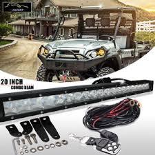 20 single row led light bar 20 single row led light bar slim wiring kit for kawasaki mule pro