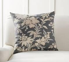 Linen Covers Gray Print Pillows White Walls Grey Throw Pillows Accent Pillows Outdoor Throw Pillows Pottery Barn