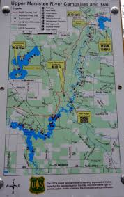 Great Loop Map The Manistee River Trail Loop Michigan Made And Marvelous U2013 Hiker