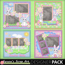 scrapbook album kits digital scrapbooking kits easter baby album syrenae