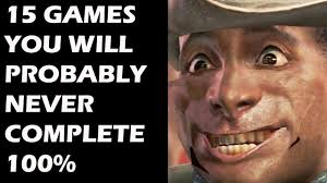 Top 100 Internet Memes - 15 video games you will probably never complete 100 youtube