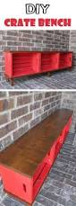 Diy Wood Storage Bench by Diy Shoe Storage Bench With Free Plans Using Crates U0026 Pallet