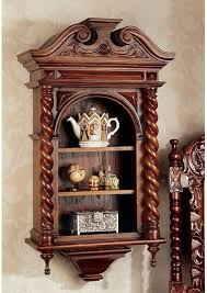 wall mounted curio cabinet design toscano charles ii wall mounted curio cabinet reviews wayfair