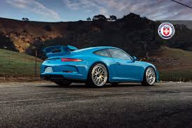 blue porsche 911 blue porsche 911 gt3 on hre classic 300 rear side sssupersports