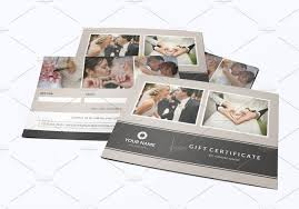 newborn photography gift certificate template vg014 paper