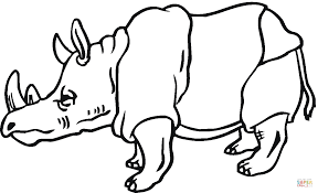 rhino coloring page free printable coloring pages