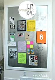 kitchen bulletin board ideas magnetic board diy thepoultrykeeperclub kitchen bulletin board